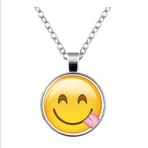 Jewelry - Yum 😋 Emoji Glass & Silver Necklace